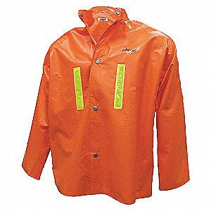 JACKET RAIN PVC/NY FR REF TAPE OR