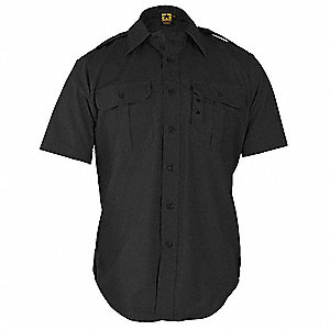 Tactical Shirt,Black,Size M Reg