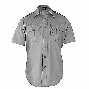 Tactical Shirt,Gray,Size XL Reg