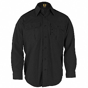 Tactical Shirt, Black, Size 3XL Long