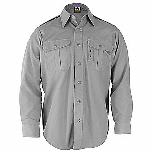Tactical Shirt,Gray,Size L Reg