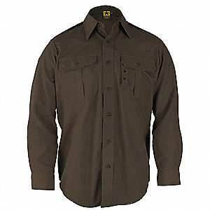 Tactical Shirt,Sheriff Brown,Size S Reg