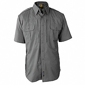 Tactical Shirt,Gray,Size S Reg