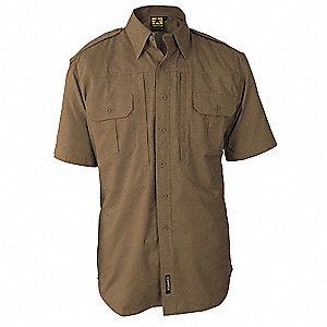 Tactical Shirt,Coyote,Size S Reg