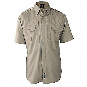 Tactical Shirt,Khaki,Size 2XL Reg