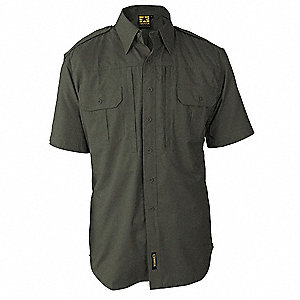 Tactical Shirt,Olive,Size M Reg