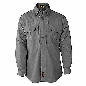 Tactical Shirt, Gray, Size 2XL Reg