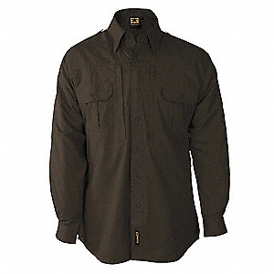 Tactical Shirt,Sheriff Brown,4XL Reg