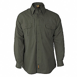 Tactical Shirt,Olive,Size S Reg
