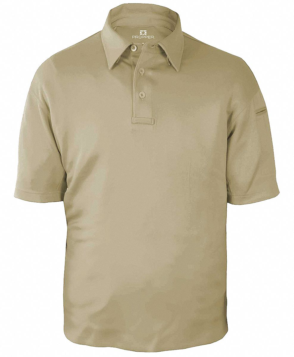 Tactical Polo, Silver Tan, Size S