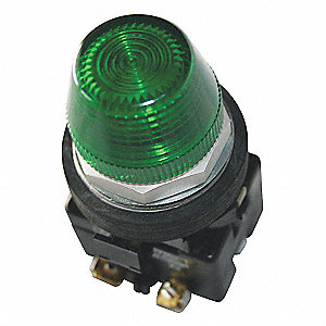 Pilot Light Complete Unit,LED,Green
