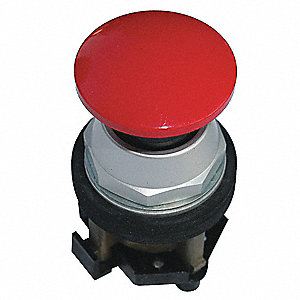 Non-Illuminated Push Button, Type of Operator: 40mm Domed Mushroom Head, Size: 30mm, Action: Maintai