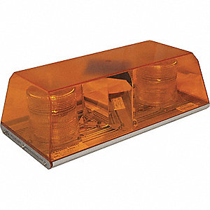 LIGHT BAR STROBE AMBER 16IN 12-24V