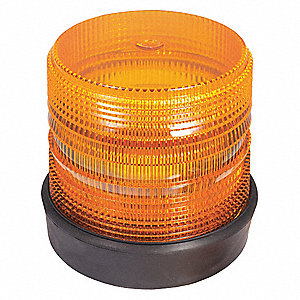 STROBE LIGHT AMBER RUBBER BASE