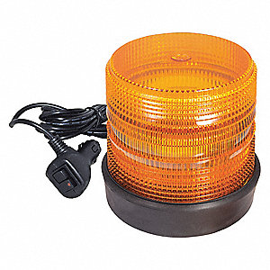 STROBE LIGHT AMBER RUBBER BASE MM