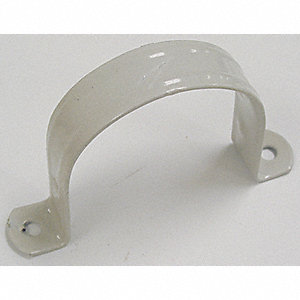 STRAP PIPE PVC 2HOLE COATED 3IN
