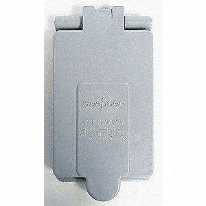 COVER SINGLE RECEPTACLE W/PROOF 20A