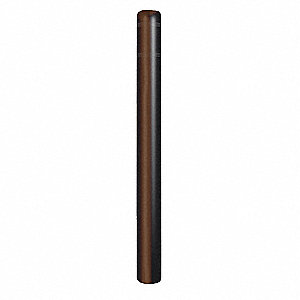 "52""H High Density Polyethylene Bollard Cover For Post Size with 4-1/2"" dia., Brown"