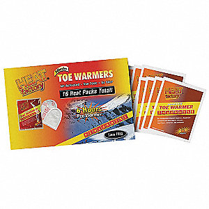 Self Adhesive Toe Warmers, Up to 6 hr Heating Time, Activates By Contact with Air