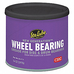 New Generation  Amber Lithium Complex Wheel Bearing Grease, 14 oz., NLGI Grade: 2
