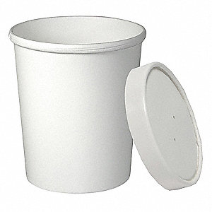 "5-2/5"" Paper Food Container, White&#x3b; PK500"