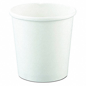 "5-5/16"" Paper Carry-Out Soup Container, White; PK500"
