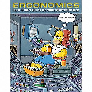 SIMPSONS ERGONOMICS POSTER 17X22