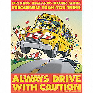 SIMPSONS DRIVING SAFETY PSTR 17X22