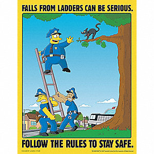 SIMPSONS LADDER POSTER 17X22