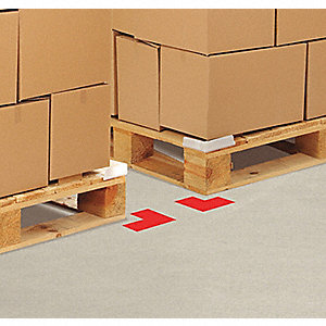 TAPE FLOOR ANGLE RED 6INX6INX3IN
