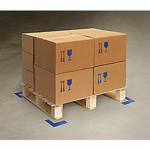 TAPE FLOOR ANGLE BLUE 6INX6INX2IN