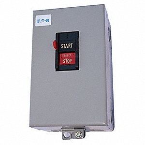 Push Button Manual Motor Starter, Enclosure NEMA Rating 1, 26 Amps AC, NEMA Size:M-0