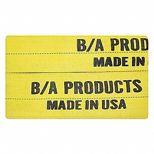 "24"" Polyester Wear Pad, 3/16"" Thick, For Sling Width: 6"", Yellow"