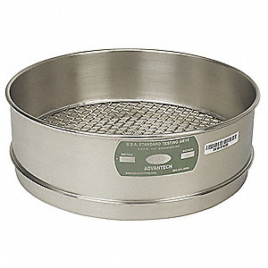 "Sieve, 1-1/4"", S/S, 12 In, Full Ht"