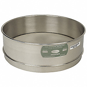 Sieve, #500, S/S, 12 In, Full Ht