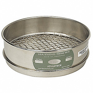 Sieve, #4, S/S, 8 In, Full Ht