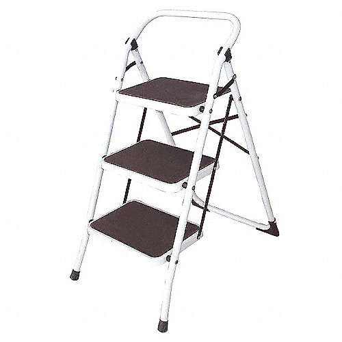 Grainger approved escalera taburete plegable 36 de for Taburete escalera plegable plastico