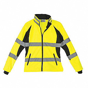 Ladies Jacket,Hi-Vis,Lrg,Blk/Ylw