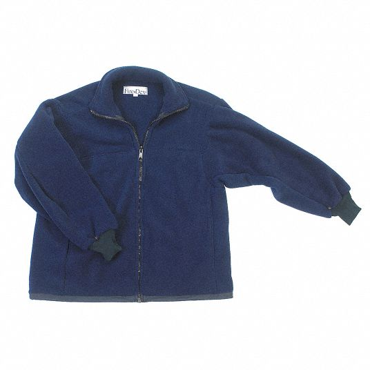 EMS Jacket Fleece Liner, S Fits Chest Size 38 in, Navy Color