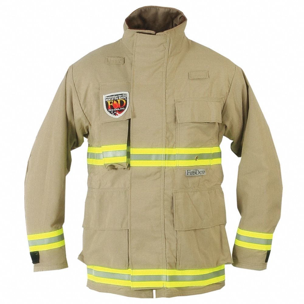 Tan USAR Jacket,  M,  Fits Chest Size 42 in,  29 to 33 in Length,  Zipper/Hook-and-Loop Closure Type