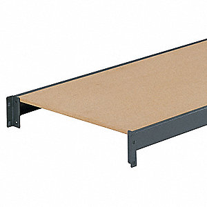 "96"" x 24"" Additional Shelf Level, Gray&#x3b; For Use With Bulk Storage Rack"