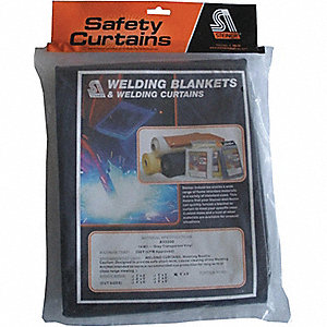 WELD CURTAIN GRAY TRANS 6FTX8FT