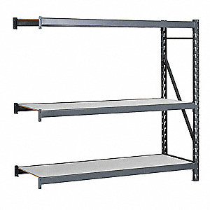 "Add-On Bulk Storage Rack with Laminate Decking and 3 Shelves, 48""W x 36""D x 96""H"