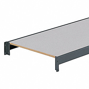 "48"" x 24"" Additional Shelf Level, Gray&#x3b; For Use With Bulk Storage Rack"