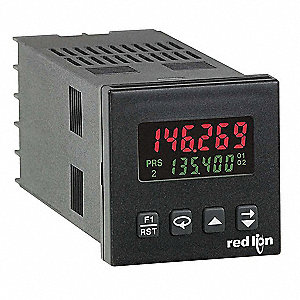 Electronic Counter, Number of Digits: 6, 2 Line Backlit LCD Display, Max. Counts per Second: 11,800