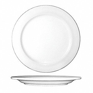 Plate,10-1/2 In. Dia,European White,PK12
