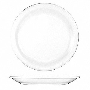 Plate,5-1/2 In. Dia,European White,PK36