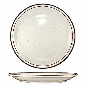 Plate,9-1/2 Dia,Brown Speckle,PK24