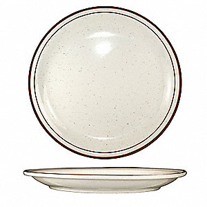 Plate,10-1/2 Dia,Brown Speckle,PK12
