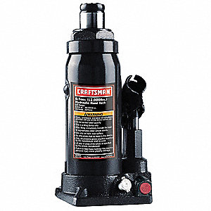 "4"" x 4.5"" Hydraulic Welded/mechanically fastened Bottle Jack with 6 tons Lifting Capacity"